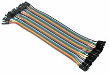 40pcs Dupont Female to Female 20cm Jumper Wire Connectors