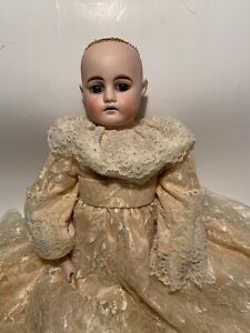RARE doll body All Leather Head Perfect No Hair Dress Original??? Signed On Back