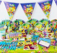 Luxury Kids Birthday Party Decors Tableware Set Spongebob Theme Party Supplies
