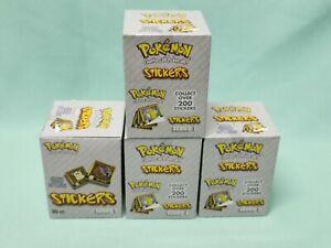 Pokemon ArtBox Sticker Serie 4 x Display / 120 Tüten / 1200 Sticker