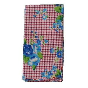 Bar III Mens Pink Gingham Floral Business Pocket Square O/S BHFO 5198