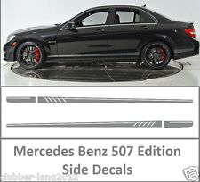 Grey AMG Edition 507 Side Stripe Decals Stickers Mercedes Benz C Class W204 W205