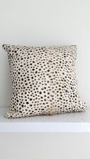 Genuine leather cover + cushion real fur hide hand painted leopard pattern $95