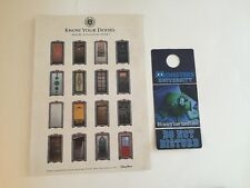 Disney World Monsters University Know Your Doors Litho Sheet Promo & Knocker