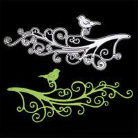 Flower Rattan Branches Cut Birds Die Stencils Album Card Craft Folder Suit HU