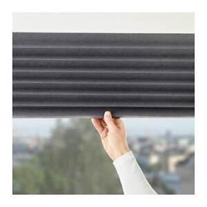 IKEA SCHOTTIS Block-out Pleated blind,Dark grey window covers 100x190cm UK-BD