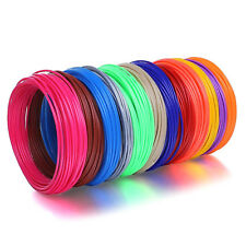 3 Meter FILAMENT für 3D Stift PLA 10 Farben 3D Drucker 1.75 3D-Pen Set Geschenk