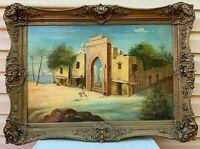 Antique Arab Medieval City Gate with Landscape by P. Celia