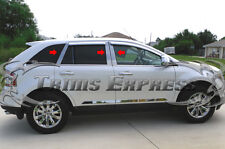 2007-2015 Lincoln MKX/07-14 Ford Edge 6Pc Chrome Pillar Post Stainless Steel