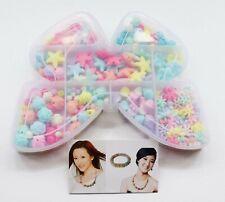 Girls Kids Necklace Bracelet Make Own Beads Jewellery Making Set Box Kit