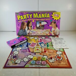 Vintage 1994 Party Mania Board Game Interactive VHS video 100% complete parker