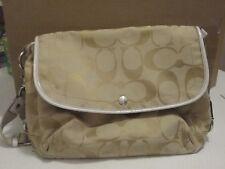 COACH Kyra biege tan Signature Shoulder, Messenger Leather Bag Purse F16557