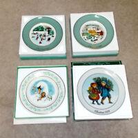 4 Vtg Avon Xmas Holiday Plates 1975 '80 '81 3 Enoch Wedgwood England 1 Japan NOS