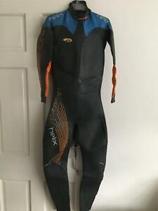 Blueseventy Helix Wetsuit Mens Black and Blue Size Medium Tall RRP £599