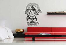 Wall Art Vinyl Sticker Decal Mural Decor Art Ganesh Elephant Lotus Flower #1109