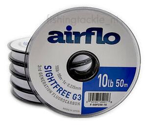 Airflo G3 Sightfree 3rd Gen Fluorocarbon 50m Fly Fishing Tippet Clear Fluoro