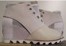 Womens Sorel Joanie Mesh Wedge Pull On Fashion Boots Sea Salt Size 10