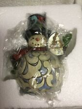 """Enesco Jim Shore Heartwood Creek """" Let Your Holiday Light Shine� Lighted Snowman"""