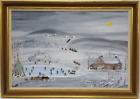 Forrest K. Moses Original Signed Folk Art Painting, Grandma Moses Son