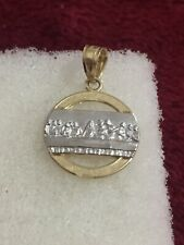 10kt Yellow And White Two Tone Gold Small Last Supper Charm