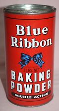 VINTAGE-BLUE RIBBON -BAKING POWDER 3 LB. BROOKE BOND CANADA TORONTO-WPG. TIN/CAN