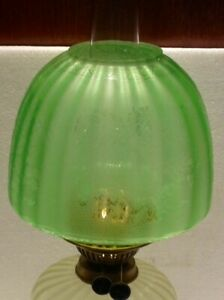 """OIL LAMP SHADE - Butterfly Beehive Shade Green 4"""" Fit"""