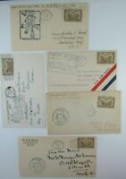 Canada 5 different 1929 NWT First Flight Covers  #C1 All cacheted in black F-VF