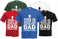 This Is What Awesome Dad Looks Like Fathers Day Gift T-Shirt Cool Birthday Tee