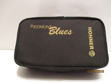 7 Piece Hohner Piedmont Blues Harmonica Set in Black Double Zipper Case