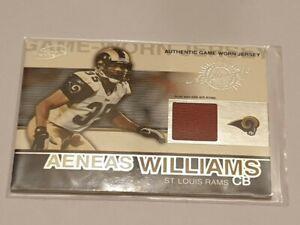 2000 Pacific Atomic Aeneas Williams Jersey Card. St Louis Ram.