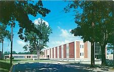 ANGOLA INDIANA TRI-STATE COLLEGE JOHN BEST HALL OF SCIENCE BLDG POSTCARD c1960s
