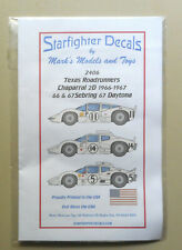 Texas Roadrunners Chaparral 2D Sebring Daytona 1:24 Scale Modeling Decals 2406