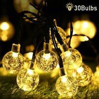 Outdoor Solar Power 30 LED String Lights Garden Ball Light Christmas Tree Decor