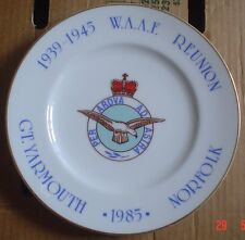 Fenton China Company Collectors Plate W.A.A.F REUNION 1985 GT YARMOUTH