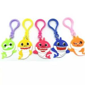 BABY SHARK KEYRING X 5 KEY CHAIN BAG BIRTHDAY PARTY LOLLY LOOT BAG FILLER