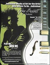 The Greg Bennett designed Samick Royale RL 4 PW electric guitar 8 x 11 ad print