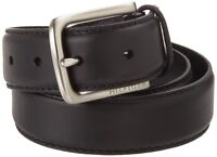 Tommy Hilfiger Men's Black Belt Ribbon Stitch Leather 11tl02x038-blk