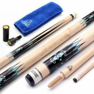 CUESOUL 3 Cushion Carom Billiard Cue Wooden Cue Joint System 56inch Weight 18oz
