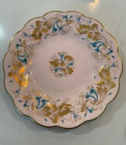 """Vintage Coalport Strange Orchid  10"""" Dinnerplate, Pink Background"""