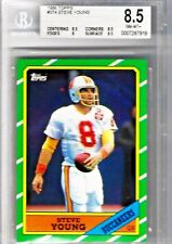 1986 Topps Steve Young  Rookie Card #374 BGS NM-MT+ with 8.5 centering Buccaneer