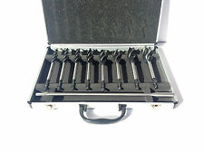 9pc Auger Bit Set. 10mm - 25mm. Aluminium Case.