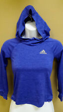 """Adidas Youth Girl's Athletic Hoodie, Shirt, Bust 26"""", Purple"""