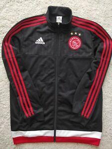 Adidas FC Ajax Amsterdam 2015 Mens Soccer Track Jacket Football Sweatshirt