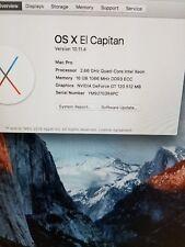 2009 Mac Pro A1289 4,1 Intel QC @ 2.66GHz, 16GB RAM, 2TB HDD, GeForce GT120,
