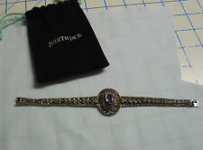 Judith Jack marcasite and sterling silver bracelet with amethyst stone