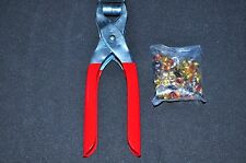 "6 "" Grommet Eyelet Setting Plier with 100 Silver Grommets New"