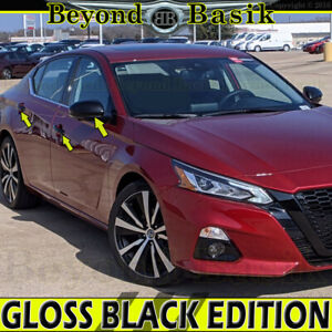 For 2019-2021 Nissan Altima GLOSS BLACK Door Handle COVERS 2SK+Mirror Cover CAPS