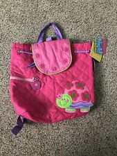 Stephen Joseph Boys Quilted Construction Backpack - Cute TURTLE bag PINK