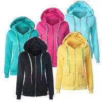 New Women Winter Hooded Hoodie Sweatshirt Zipper Sweater Coat Jacket Jumper Tops