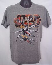 STAR WARS Jet Fighter Mens T-Shirt Grey NWT Size SMALL